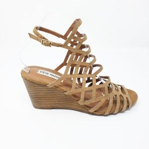 Steve Madden Caileen Leather Strappy Wedge Sandals